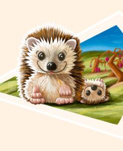 Rolling hedgehog